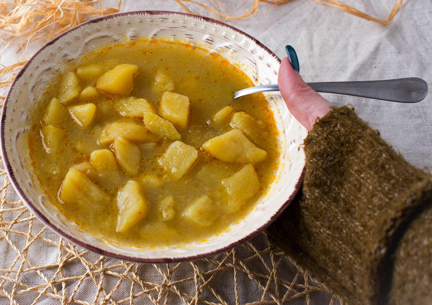 zuppa di patate indiana